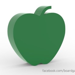 apple.jpg Download free STL file Apple Meeple for Board Games • Template to 3D print, boardgameset