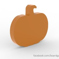 pumpkin.jpg Download free STL file Pumpkin Meeple for Board Games • 3D printer object, boardgameset