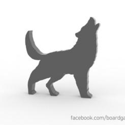 Descargar modelo 3D gratis Wolf Meeple / Token para juegos de mesa, boardgameset
