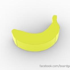 Descargar modelo 3D gratis Banana Meeple Token para juegos de mesa, boardgameset