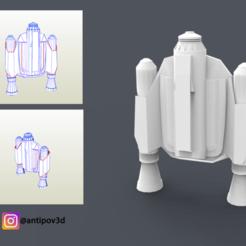 Render_00.png Download STL file The Mandalorian 2019 Jetpack Pepakura PDO/PDF • 3D printing model, Antipov3d