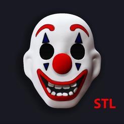 Télécharger fichier 3D Masque Joker 2019 Joaquin Phoenix 3D Print STL ( Fichier numérique ! ), Antipov3d