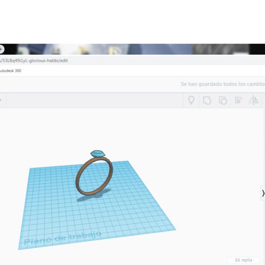 Download free 3D printing templates anillo con diamante, claulopetegui