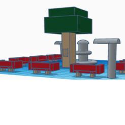 Plaza.png Download free STL file Plaza con árbol sillas y fuente • 3D printing design, claulopetegui