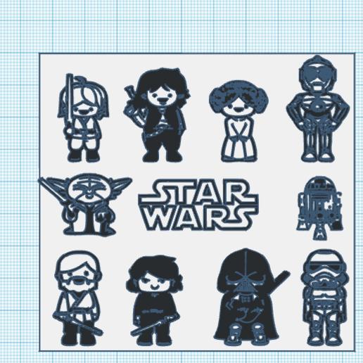 Télécharger fichier STL gratuit pack de figuritas / star wars / figures set • Objet pour impression 3D, claulopetegui