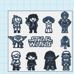 Download free 3D printing templates pack de figuritas / star wars / figures set, claulopetegui