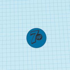 Télécharger plan imprimante 3D gatuit Tapa de botella tamaño real con logo de seven up, claulopetegui