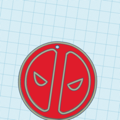 Download free STL file llavero logo /Deadpool/ logo keychain • 3D printing object, claulopetegui