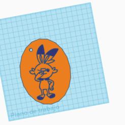 Télécharger fichier STL gratuit Llavero Scorbunny /POKÉMON/ ScorbunnyKeychain • Design pour imprimante 3D, claulopetegui