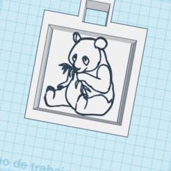 Télécharger fichier STL gratuit llavero/oso panda con bambu/ panda bear with bambu keychain • Objet pour impression 3D, claulopetegui
