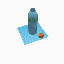 Download free STL file botella con tapa bottle • 3D printing design, claulopetegui