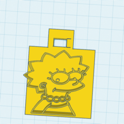 Stunning Amberis.png Download free STL file llavero lisa simpson / lisa simpsons keychain • Object to 3D print, claulopetegui