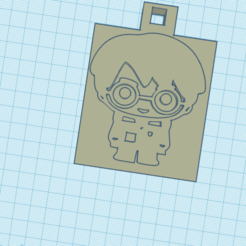 Download free 3D printer designs llavero / harry potter / keychain, claulopetegui