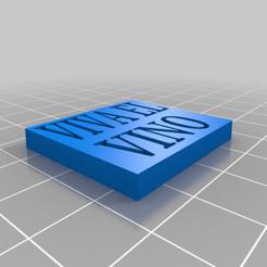 """porta_vasos_de_viva_el_vino.png Download free STL file Porta vasos de """"VIVA EL VINO"""" • Template to 3D print, claulopetegui"""