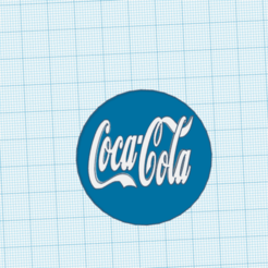 Descargar STL gratis Tapa de botella tamaño real con logo de coca cola, claulopetegui