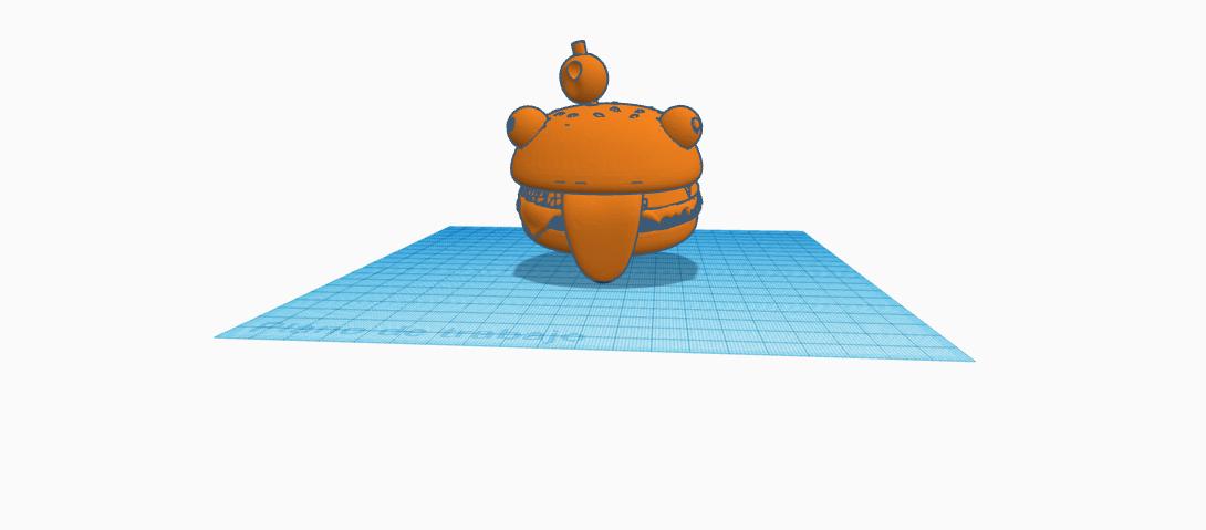 Fortnite durr burger llavero keychain.png Download free STL file llavero/Fortnite Durr Burger/Keychain • 3D printable object, claulopetegui
