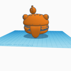 Fortnite durr burger llavero keychain.png Download free STL file llavero/Fortnite Durr Burger/Keychain • 3D printable object, claulopetegui