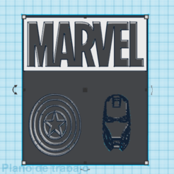 Download free STL files cuadro / marvel / picture, claulopetegui