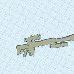Download free STL file fortnite barret llavero keychain sniper pesado heavy • 3D printing model, claulopetegui