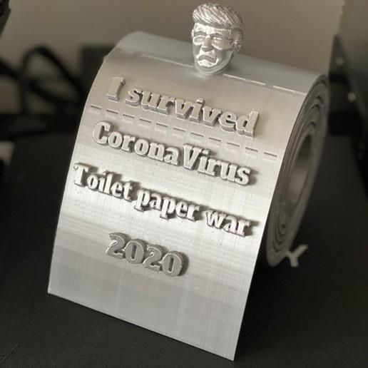 Download STL I survived CoronaVirus toilet paper war 2020, decembar2912