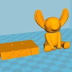 Les 2.JPG Download free STL file Stitch 2021 • 3D printing template, davidbardet24