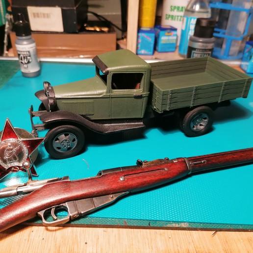 Download 3D printing files Russian WWII light truck GAZ-AA (Полуторка), waltwil778
