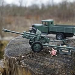 DSC08306.jpg Télécharger fichier STL Canon de campagne de 76 mm ZiS-3 de la Seconde Guerre mondiale pour les munitions du canon à bouchon • Objet pour imprimante 3D, waltwil778