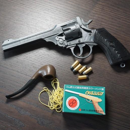 Download 3D model Webley MK IV rubber band gun, waltwil778