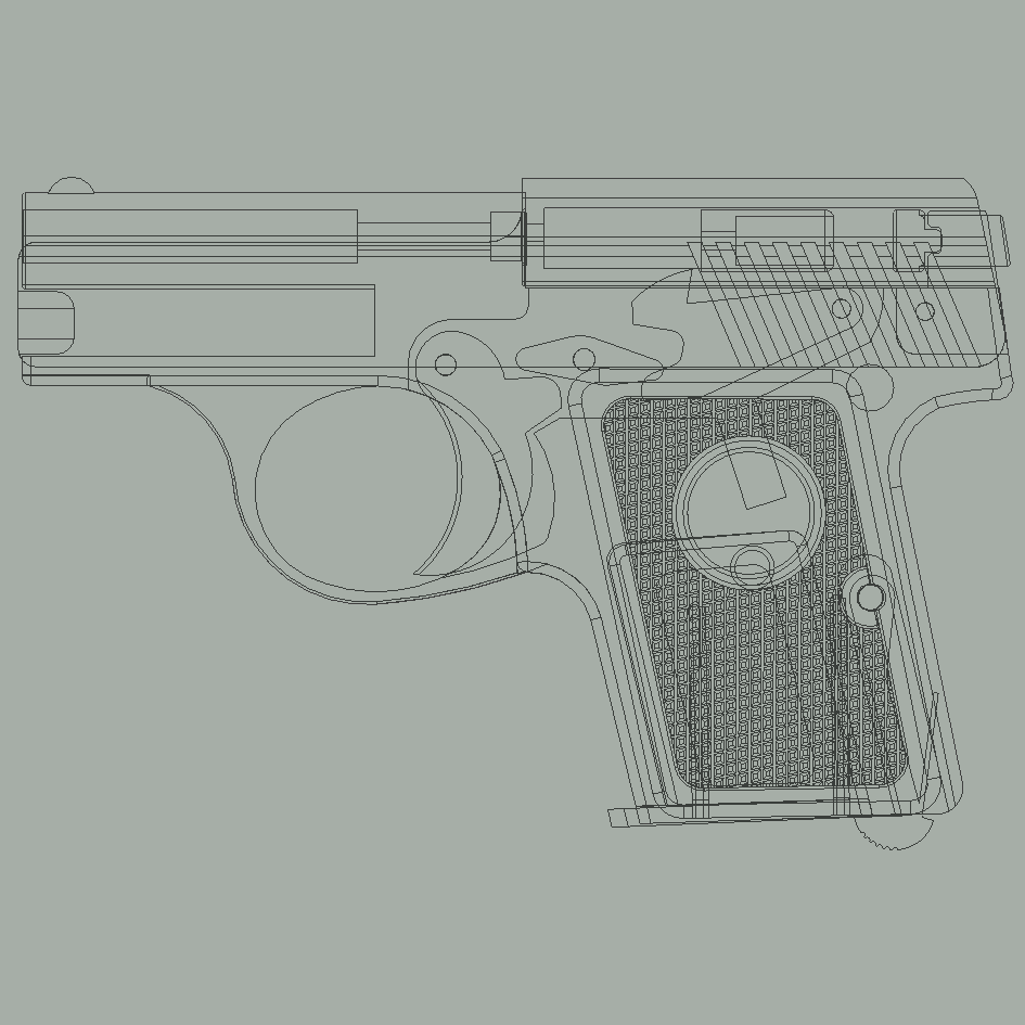 "CUTTAWAY.png Download STL file Menz ""Liliput"" M1925 cap gun • Design to 3D print, waltwil778"