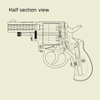 Download 3D printing files British Webley Bulldog M1872 for cap gun ammo , waltwil778