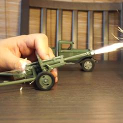 Download 3D printer designs Soviets artillery truck GAZ-AA and 76mm field gun ZiS-3, waltwil778