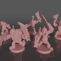 0201.png Download free STL file Ork soldiers with melee weapons and pistols set#2 • 3D printable design, GRAYGAWR