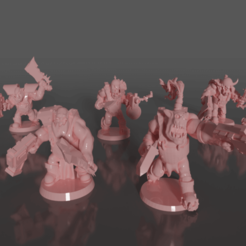 0101.png Download free STL file Ork soldiers with melee weapons and pistols set#1 • 3D printing design, GRAYGAWR