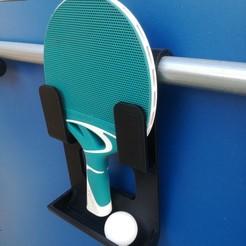 image 1.jpg Télécharger fichier STL Support raquette ping pong et balles • Design imprimable en 3D, stephantoison2