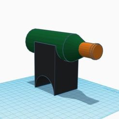 Download free 3D printer templates Support / Range Bouteille vin, oz3ndiamant