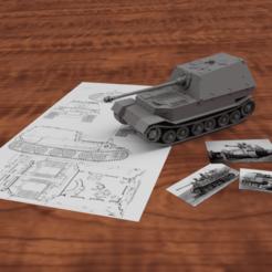 Elefant_1_72_Render2.png Télécharger fichier STL Ferdinand Tank Scalemodel • Modèle imprimable en 3D, CHE_Scalemodels