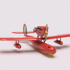 Download free 3D model Porco Rosso Savoia S.21 Aircraft, Benjijart