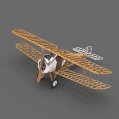 Download free STL files Sopwith Camel Scale Model, Benjijart