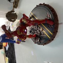Download free STL file Ironman MK42 Superhero Landing Position with lights • 3D printer object, Smokedogg51510