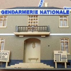 123457550_1806351622836953_1868187992400957543_o.jpg Download STL file National Gendarmerie plate HO 1/87 • 3D print design, Estafette27