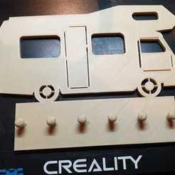 91793588_1596486653823452_3381303533096665088_o.jpg Download STL file key holder Estafette camper van • 3D print design, Estafette27