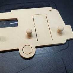 croche clé eriba.jpg Download STL file Caravan Eriba Familia key chain • 3D printer design, Estafette27