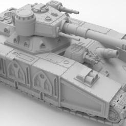 untitled.381.jpg Download STL file Imperial super-heavy tank • 3D printable object, Imperial_Prapor