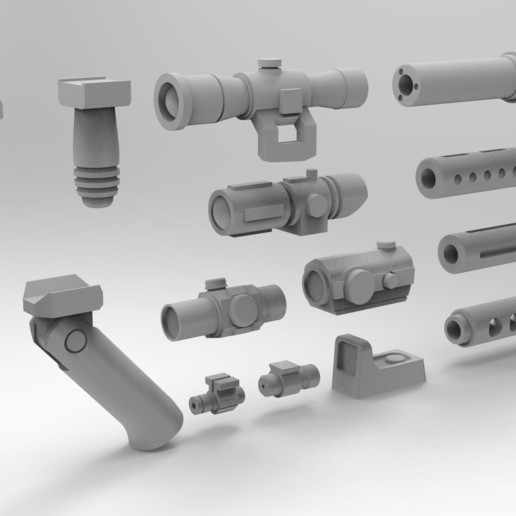 Download 3D printer files Tactical accessories for 28mm weapon, Imperial_Prapor