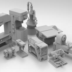 Сборка мастерская 2.364.jpg Télécharger fichier STL Mobilier d'atelier pour 28mm • Objet imprimable en 3D, Imperial_Prapor