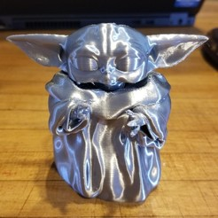 Download free 3D printing designs Baby yoda cup, rjsiii