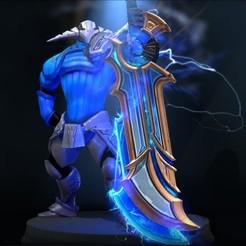 Sven Weapon Vigil Triumph (Immortal).jpg Download STL file Sven Weapon - Vigil Triumph (Immortal)| DOTA 2 • Object to 3D print, bobbieatendido