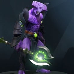 Faceless Void Weapon.jpg Download STL file Faceless Void Weapon | DOTA 2 • 3D printer object, bobbieatendido
