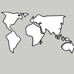 Télécharger fichier STL carte du monde géométrique, DajouxTom