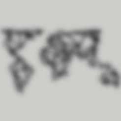 Download STL files geometric world map, DajouxTom